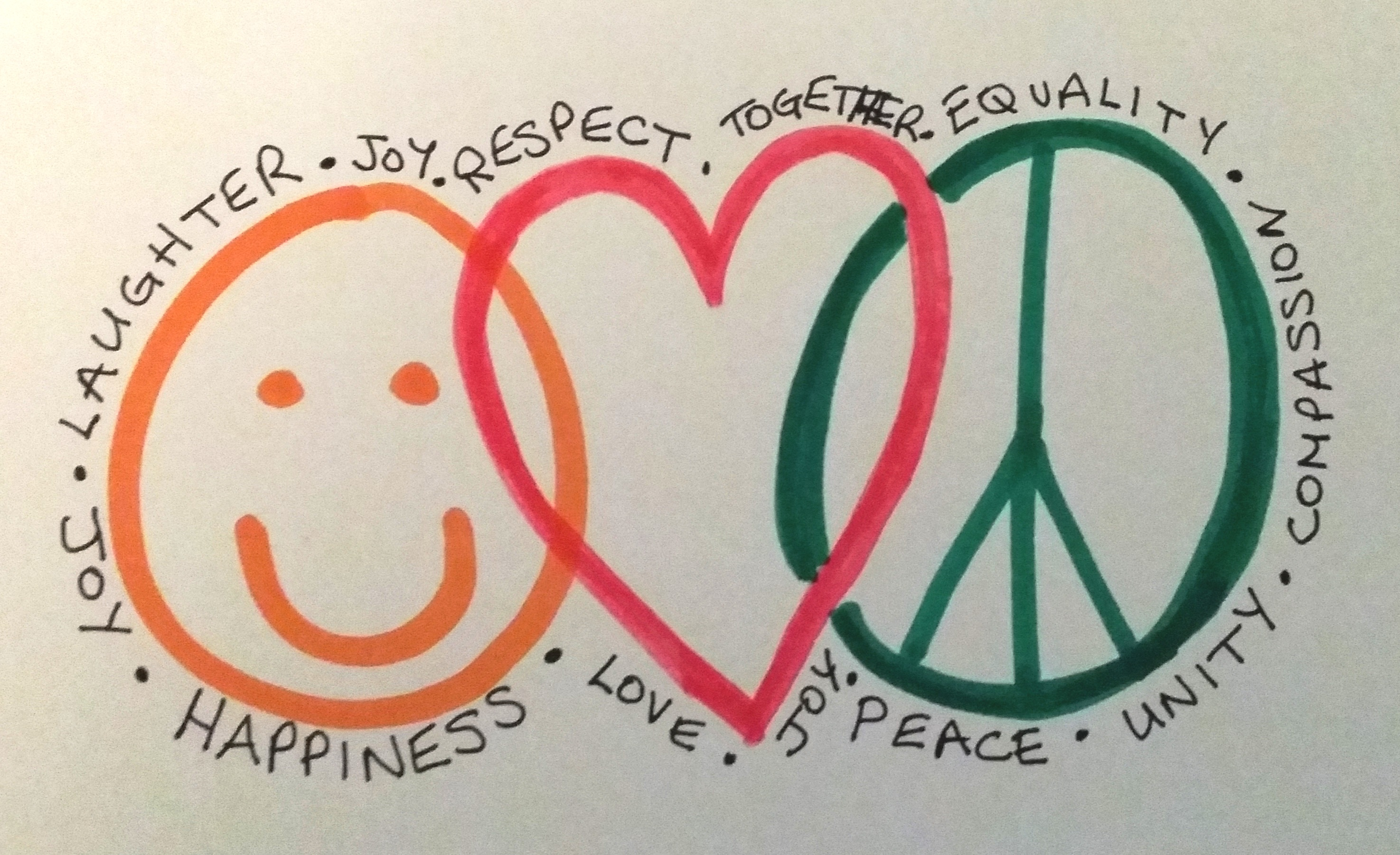 happiness love and peace